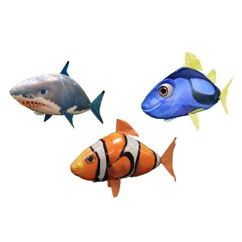 Image of R/C Remote Control Flying Fish - Shark, Clownfish