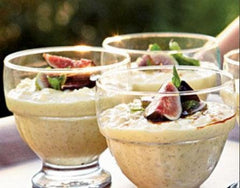 Lemon Rice Pudding with Figs and Saba | The Little Shop of Olive Oils