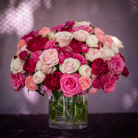 Contemporary - Mixed Pink Rose Arrangement