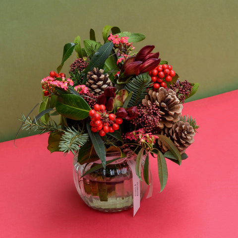 Luxury Christmas Posy - Red