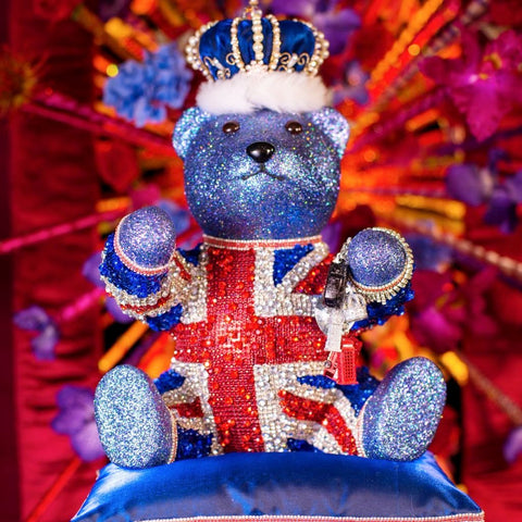 Bejewelled Union Flag Teddy Bear