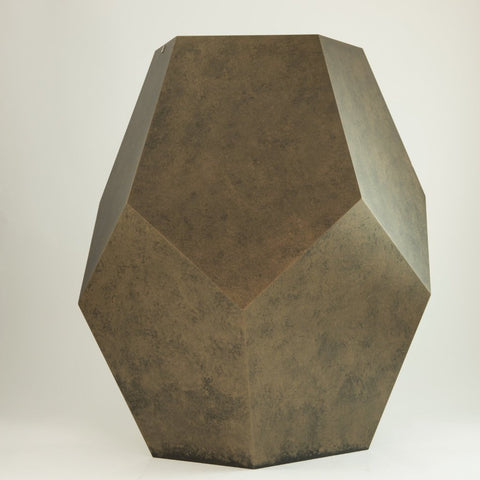 Multifaceted Container With Bronze Effect Finish