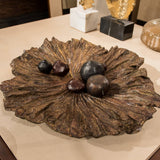 Bronze Lotus Leaf Bowl