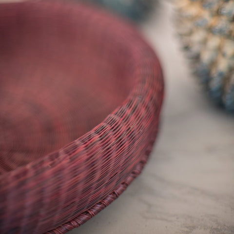 Red South American Handwoven Basket