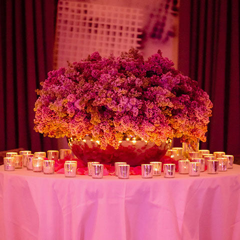 Grand lilac centrepiece for event