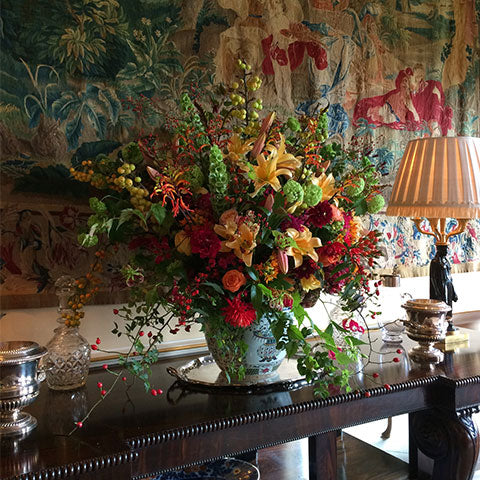 Bespoke high summer arrangement