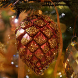 480x480**center**Luxury glittered cone bauble**enquire