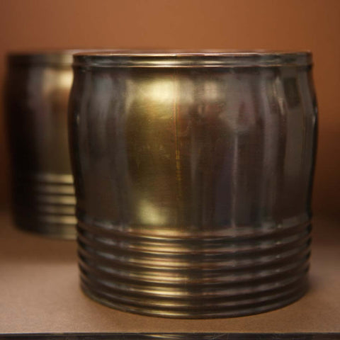 Pair of brass pots