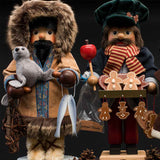 480x480**center**Duo of nutcrackers including Eskimo and Gingerbread vendor**enquire