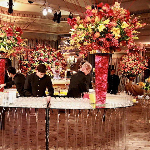 Lavish extra-large event arrangments for cocktail reception