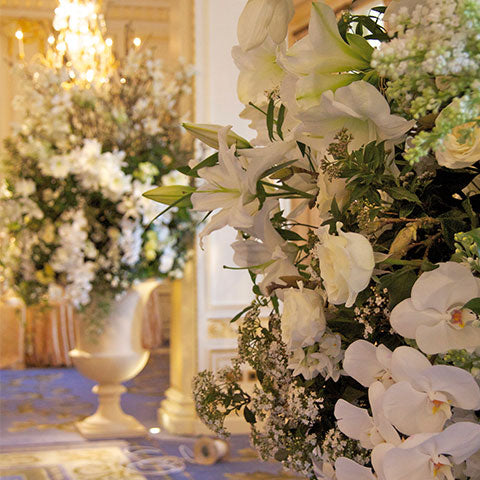 All white luxury arrangement