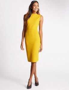 M&S Collection- Ponte Sleeveless Bodycon Dress