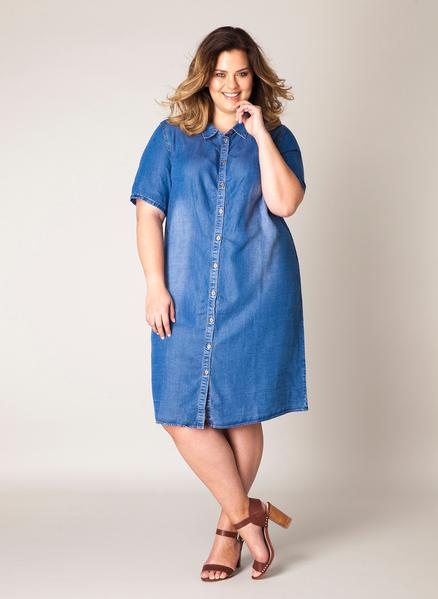 CRVS - Lisbeth Denim Dress Plus
