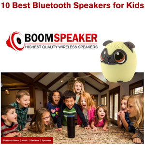 Boom Speaker recognizes My Audio Pet as in the top 5 speakers for kids - the perfect Christmas gift and stocking stuffer