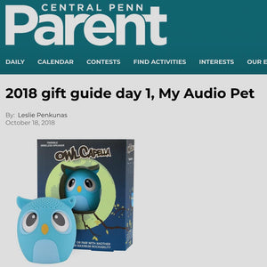 My Audio Pet speakers Recognized by Central Penn Parent as a number 1 holiday gift for kids of all ages.
