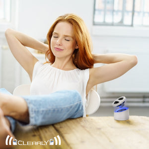CLEARLY Amazing Wireless Bluetooth mini audio music speaker with clear passive bass chamber and crystal clear audio perfect for chill-out tunes at the end of a busy day