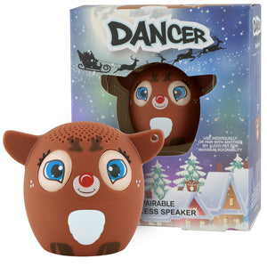 My Audio Pet Dancer Wireless Bluetooth Speaker with True Wireless Stereo Reindeer with Christmas box