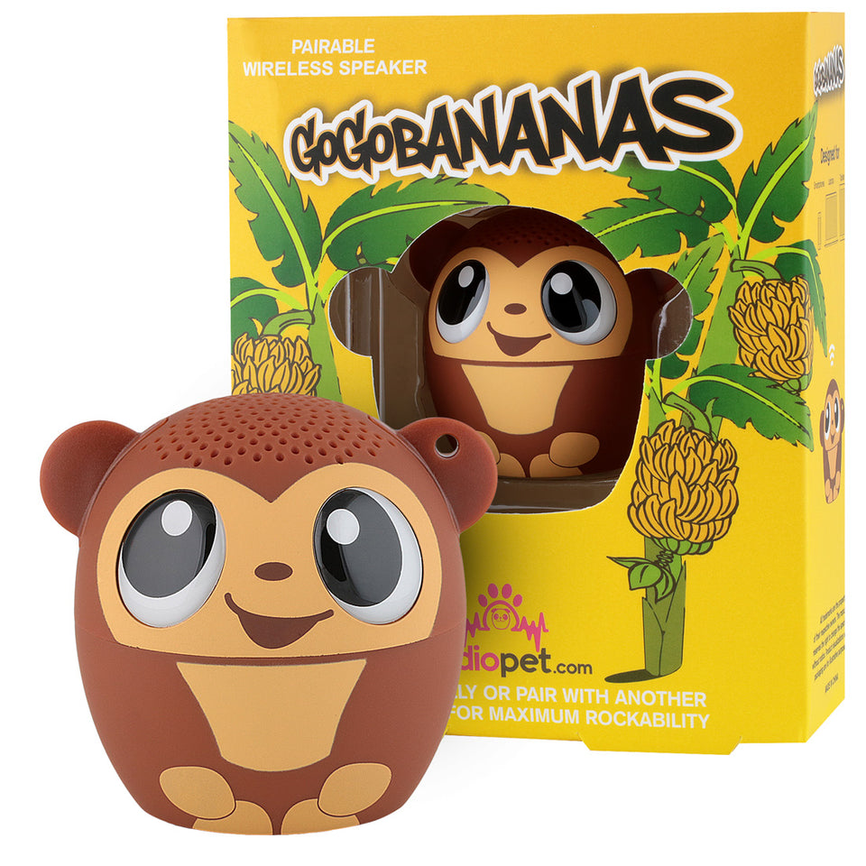 My Audio Pet GoGoBananas Wireless Bluetooth Speaker with True Wireless Stereo Monkey with banana tree box
