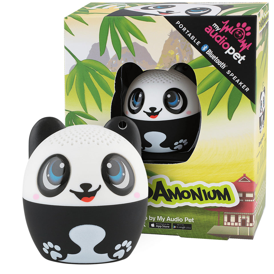 My Audio Pet Pandamonium Wireless Bluetooth Speaker with True Wireless Stereo Panda with asian jungle box