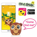 My Audio Pet GoGoBananas Wireless Bluetooth Speaker with True Wireless Stereo Hide & Speak App available iTunes Google Play