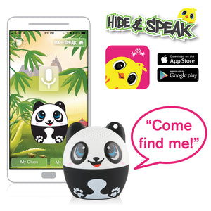 My Audio Pet Pandamonium Wireless Bluetooth Speaker with True Wireless Stereo Hide & Speak App available iTunes Google Play