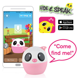 My Audio Pet Party Pig Wireless Bluetooth Speaker with True Wireless Stereo Hide & Speak App available iTunes Google Play