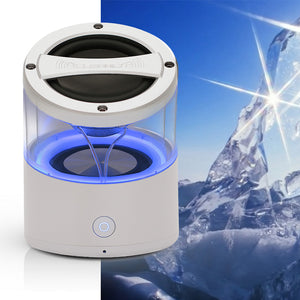 CLEARLY Amazing Wireless Bluetooth mini audio music speaker with clear passive bass chamber and crystal clear audio cool as ice
