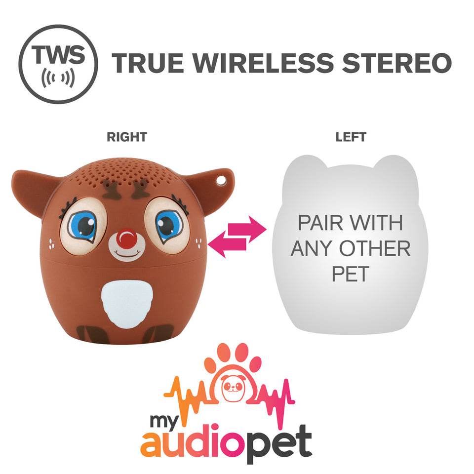 My Audio Pet Dancer Wireless Bluetooth Speaker with True Wireless Stereo Pair with any other MyAudioPet