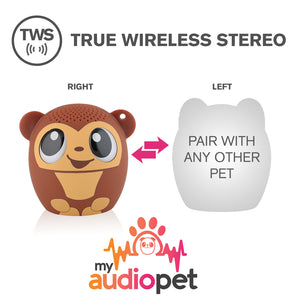 My Audio Pet GoGoBananas Wireless Bluetooth Speaker with True Wireless Stereo Pair with any other MyAudioPet