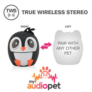 My Audio Pet Ice Ice Baby Wireless Bluetooth Speaker with True Wireless Stereo Pair with any other MyAudioPet