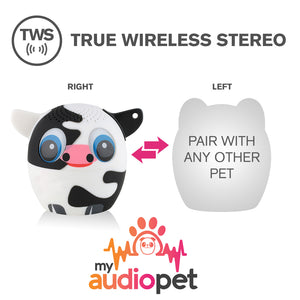 My Audio Pet Moozart Wireless Bluetooth Speaker with True Wireless Stereo Pair with any other MyAudioPet