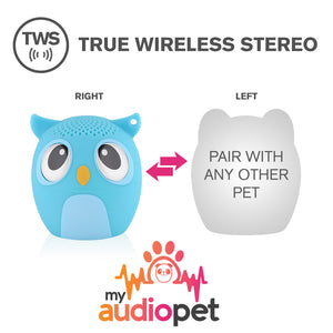 My Audio Pet OWLcapella Wireless Bluetooth Speaker with True Wireless Stereo Pair with any other MyAudioPet