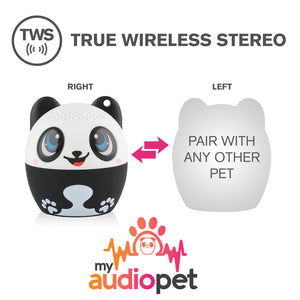 My Audio Pet Pandamonium Wireless Bluetooth Speaker with True Wireless Stereo Pair with any other MyAudioPet