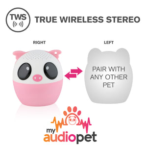 My Audio Pet Party Pig Wireless Bluetooth Speaker with True Wireless Stereo Pair with any other MyAudioPet