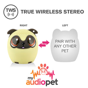 My Audio Pet Power Pup Wireless Bluetooth Speaker with True Wireless Stereo Pair with any other MyAudioPet