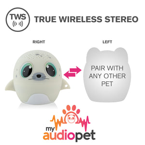 My Audio Pet SEALebration Wireless Bluetooth Speaker with True Wireless Stereo Pair with any other MyAudioPet
