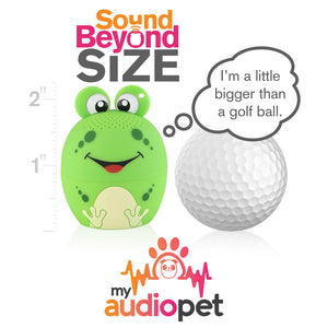 My Audio Pet AMPEDphibian Wireless Bluetooth Speaker with True Wireless Stereo Size of a Golf Ball