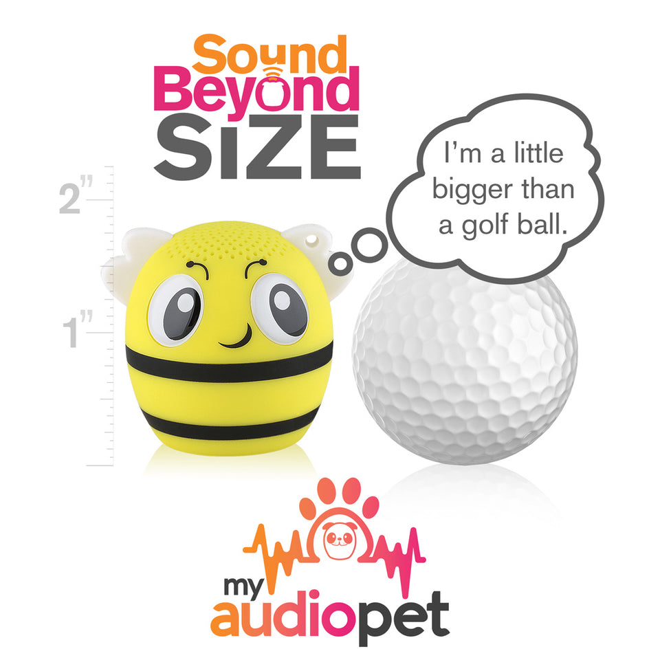My Audio Pet BumbleBeat Wireless Bluetooth Speaker with True Wireless Stereo Size of a Golf Ball
