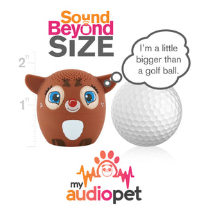 My Audio Pet Dancer Wireless Bluetooth Speaker with True Wireless Stereo Size of a Golf Ball