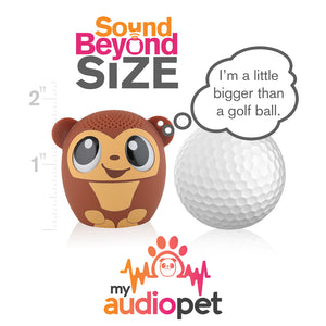 My Audio Pet GoGoBananas Wireless Bluetooth Speaker with True Wireless Stereo Size of a Golf Ball