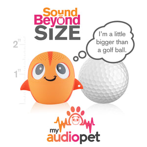 My Audio Pet GoldieRocks Wireless Bluetooth Speaker with True Wireless Stereo Size of a Golf Ball
