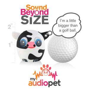 My Audio Pet Moozart Wireless Bluetooth Speaker with True Wireless Stereo Size of a Golf Ball