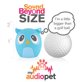 My Audio Pet OWLcapella Wireless Bluetooth Speaker with True Wireless Stereo Size of a Golf Ball