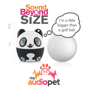 My Audio Pet Pandamonium Wireless Bluetooth Speaker with True Wireless Stereo Size of a Golf Ball
