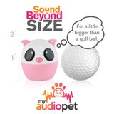 My Audio Pet Party Pig Wireless Bluetooth Speaker with True Wireless Stereo Size of a Golf Ball