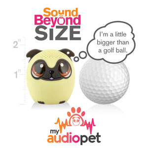 My Audio Pet Power Pup Wireless Bluetooth Speaker with True Wireless Stereo Size of a Golf Ball