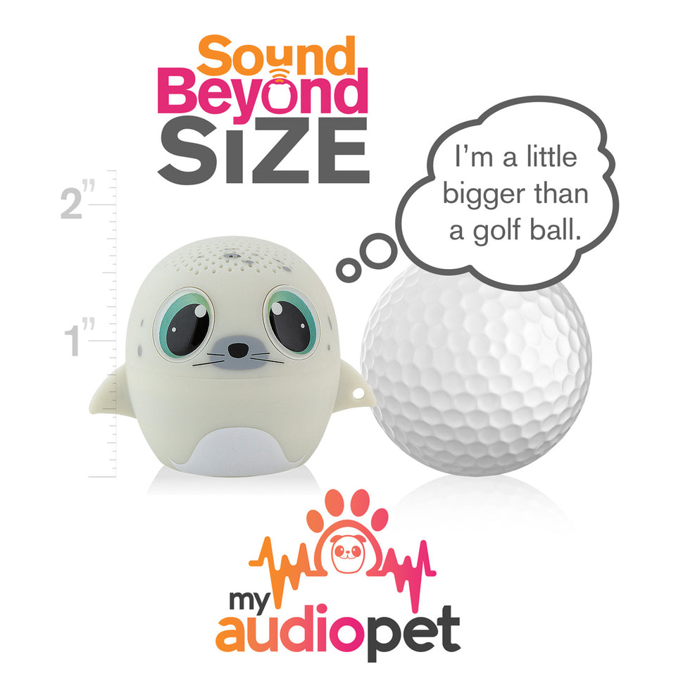 My Audio Pet SEALebration Wireless Bluetooth Speaker with True Wireless Stereo Size of a Golf Ball