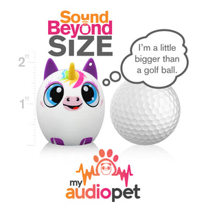 My Audio Pet UniChord Wireless Bluetooth Speaker with True Wireless Stereo Size of a Golf Ball
