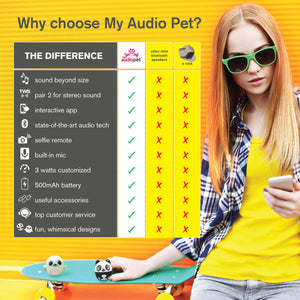 My Audio Pet Wireless Bluetooth Speakers with True Wireless Stereo Cute and Kick Butt Above the Rest