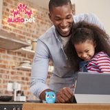 My Audio Pet OWLcapella Wireless Bluetooth Speaker with True Wireless Stereo Blue Owl rocking the tunes from daddy daughter time